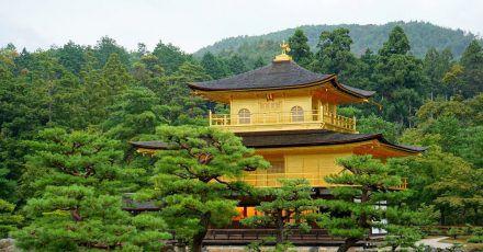 Der berühmte goldene Tempel Kinkaku-ji in der japanischen Stadt Kyoto - hier vor seiner jüngsten Restaurierung - wurde umfassend renoviert.