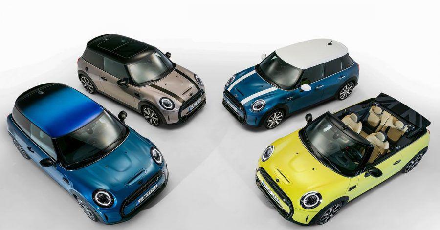 Aufgefrischt: Mini gönnt seinen Dreitürern, Fünftürern und Cabrios eine Modellpflege.