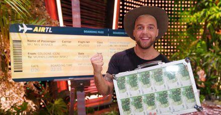 Filip Pavlovic jubelt über seinen Sieg bei der RTL-«Dschungelshow».