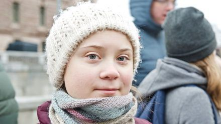 Greta Thunberg bei einer Demonstration im Jahr 2019. (wue/spot)