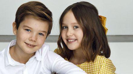 Vincent und Josephine von Dänemark posieren für die Kameras. (ili/spot)