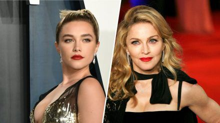 Schlüpft Florence Pugh (li.) in Madonnas Biopic in die Rolle der Queen of Pop? (ncz/spot)