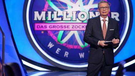 "Moderator Günther Jauch bei ""Wer wird Millionär? - Das große Zocker-Special"" (hub/spot)"
