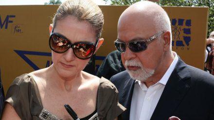 Céline Dion mit ihrem Ehemann René Angélil bei einer Veranstaltung im Jahr 2008 (ili/spot)