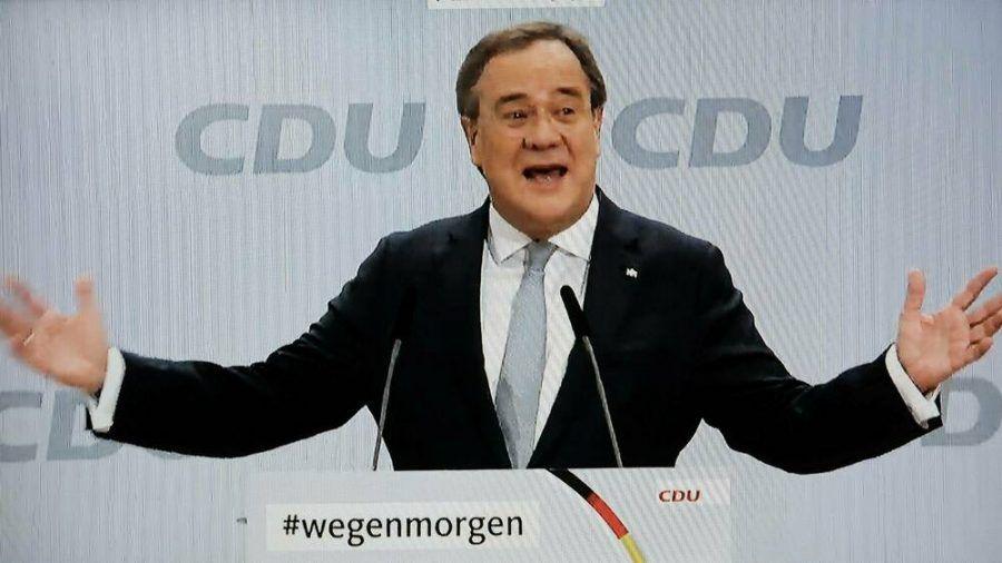 Armin Laschet auf dem digitalen Parteitag der CDU (wue/spot)