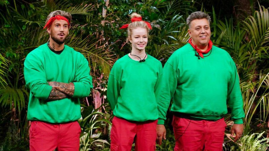 Mike Heiter (li.), Zoe Saip und Frank Fussbroich bei der Dschungelprüfung. (cos/spot)