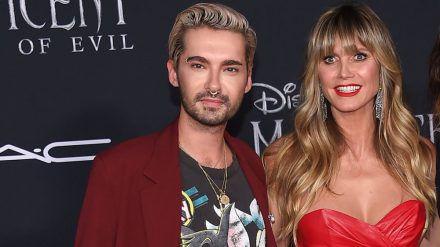 Bill Kaulitz und Heidi Klum bei einer Filmpremiere 2019. (jom/spot)
