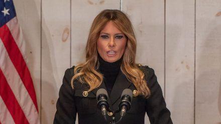 First Lady Melania Trump verabschiedet sich mit aufgezeichneter Rede (ili/spot)