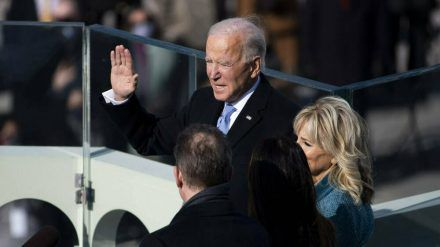 Joe Biden bei seiner Vereidigung (wue/spot)