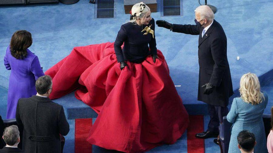 Lady Gagas Outfit war ein Liebesbrief an Amerika (mia/spot)