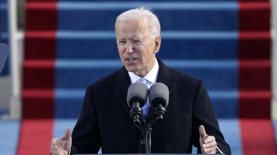 Joe Biden während seiner ersten Rede als US-Präsident (wue/spot)