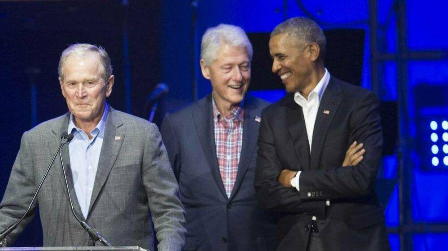 Stehen gemeinsam ihrem neuen Präsidenten Joe Biden bei: George W. Bush, Bill Clinton und Barack Obama (stk/spot)