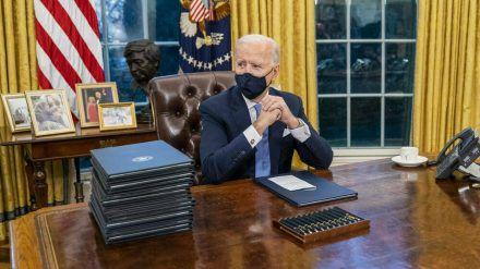 Joe Biden ist im Oval Office eingezogen. (hub/spot)