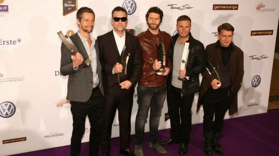 2011 nahmen alle fünf Bandmitglieder von Take That in Berlin den Musikpreis Echo entgegen. (wag/spot)