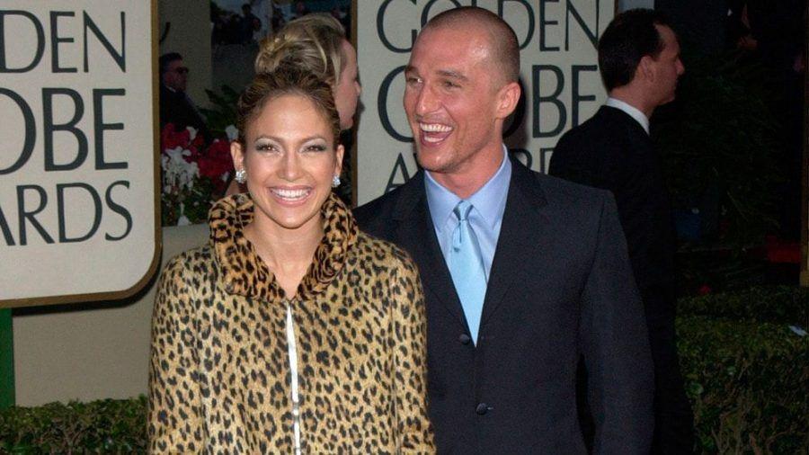 Jennifer Lopez und Matthew McConaughey bei den Golden Globes 2001. (mia/spot)