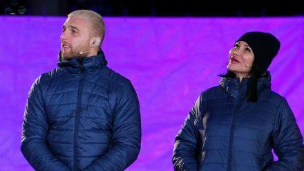 Filip Pavlovic und Djamila Rowe bei der Halbfinal-Challenge (wue/spot)