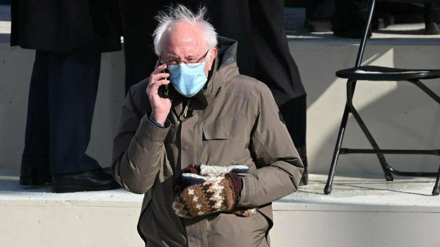 Bernie Sanders während der Inauguration von Joe Biden in Washington. (dr/spot)