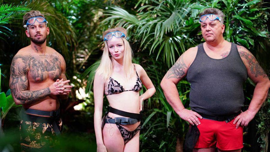 Dschungelshow: Erste Prüfung mit Mike Heiter, Zoe Saip, Frank Fussbroich