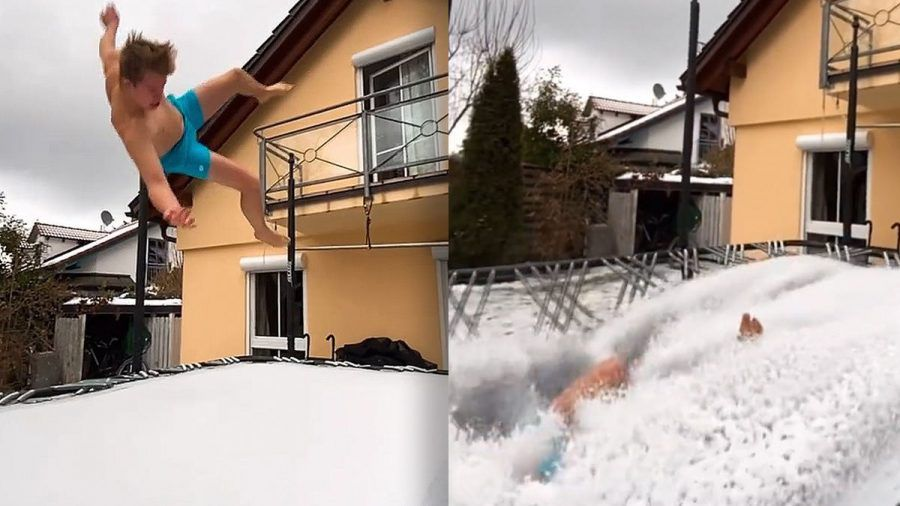 Video: Jugendlicher springt vom Balkon und wird berühmt