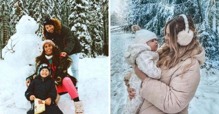 Stars im Schnee: Die schönsten Bilder!