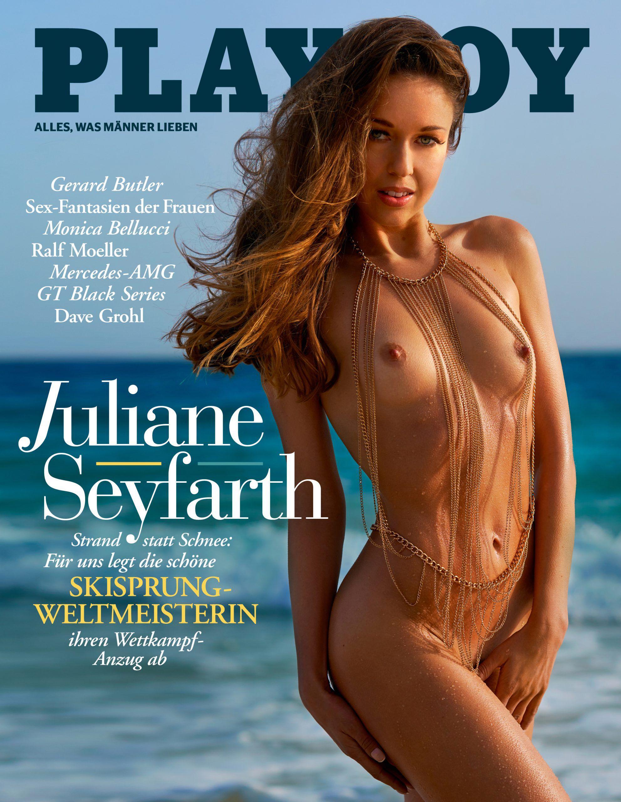 """Wintersport-Star Juliane Seyfarth posiert nackt für den """"Playboy"""""""
