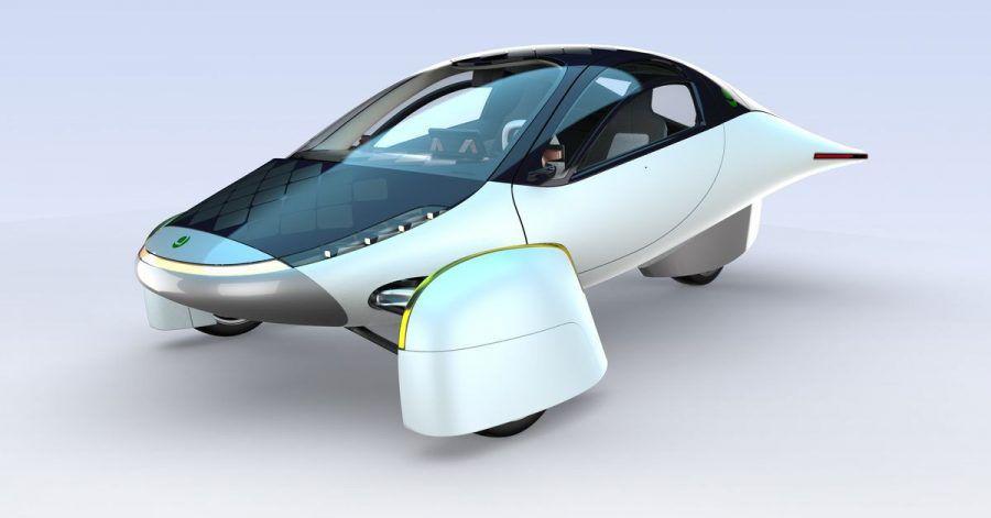 Das E-Auto-Dreirad von Aptera bekommt zusätzliche Energie durch zahlreiche Solarzellen.