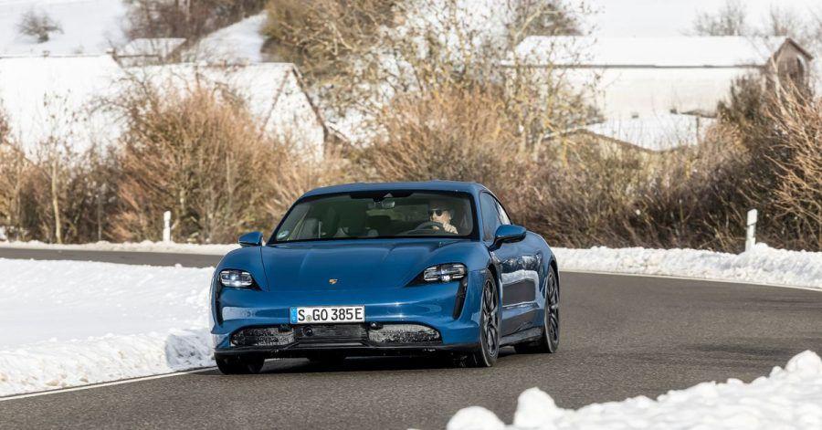 Basisarbeit: Mit dem Grundmodell schließt Porsche die Antriebspalette für den Taycan ab.