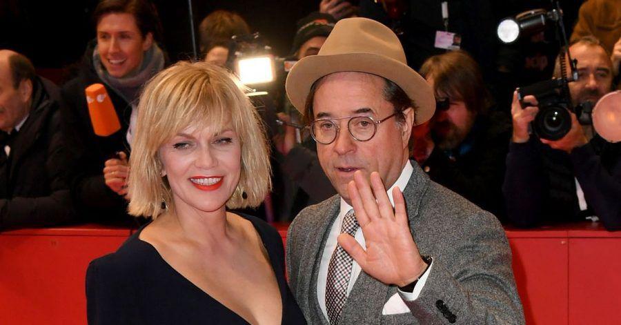 Der Schauspieler Jan Josef Liefers und seine Frau und Kollegin Anna Loos.