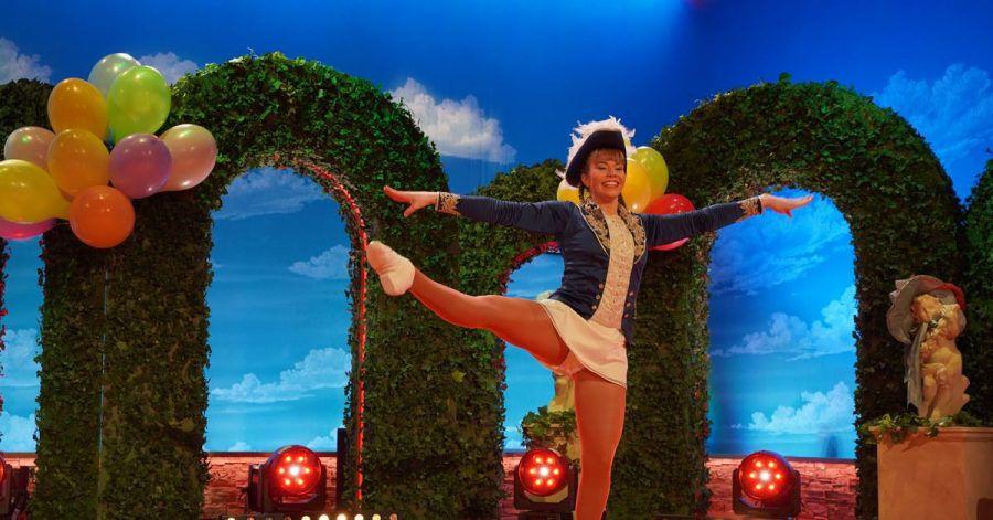 Das Tanzmariechen Lorena Ruthardt schwang die Beine.