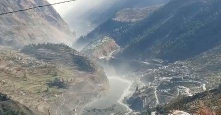 Massive Sturzflut im Chamoli-Distrikt im nördlichen Bundesstaat Uttarakhand.