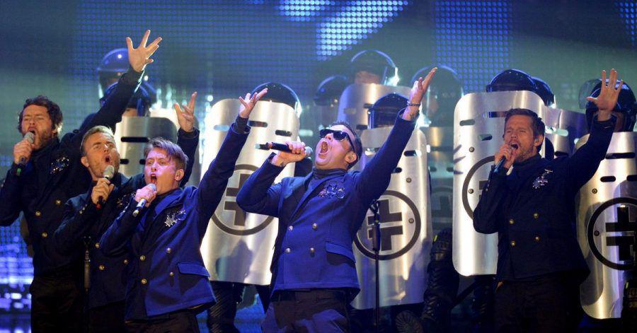 Take That bei der Echo-Verleihung. Mit ihrer Trennung schockierte die britische Band 1996 Teenager in ganz Europa.