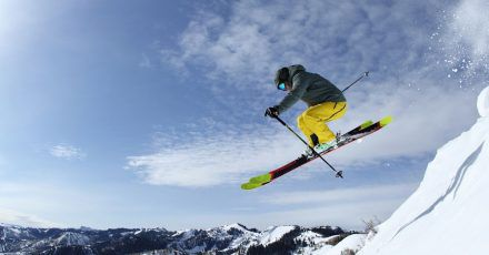 Profi am Werk: Skifahrer in Park City, Utah, das als das größte Skigebiet der USA gilt.