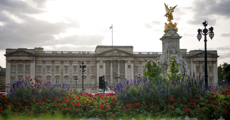 Blick auf den Buckingham Palast, der derzeit renoviert wird.