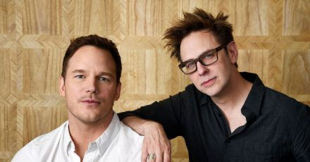 Vor und hinter der Kamera: Der US-Schauspieler Chris Pratt (l) mit dem  US-Drehbuchautor und Regisseur von «Guardians of the Galaxy Vol. 2», James Gunn.