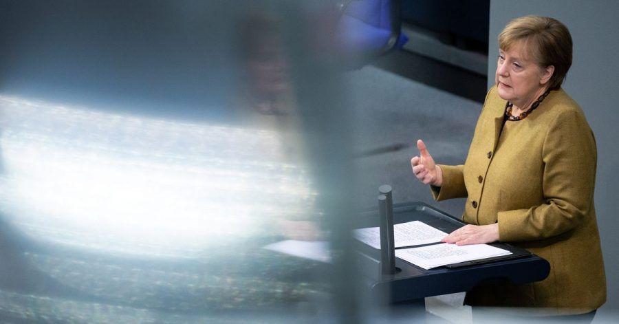 Auch im TVThema: Kanzlerin Angela Merkel (CDU) hält eine Regierungserklärung zu den Ergebnissen der Bund-Länder-Runde.