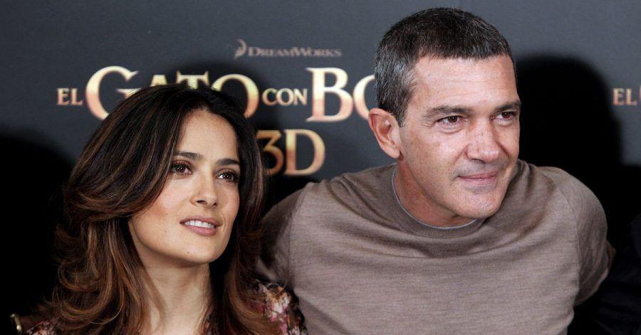 Alles für den Film: Salma Hayek und Antonio Banderas mussten sich vor laufender Kamera ganz nah kommen.