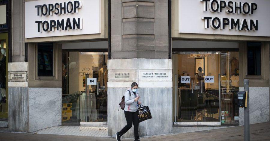 Blick auf eine Topshop Topman-Filiale in Edinburgh.