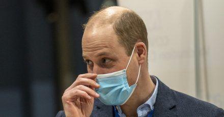 Prinz William besucht das Impfzentrum in King's Lynn.