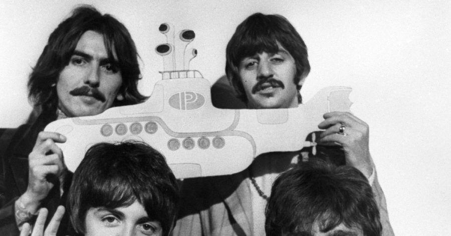 Die Beatles 1967 in London.