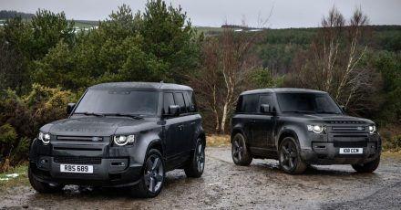Den Land Rover Defender können Kunden nun auch mit einem starken V8-Motor für den Fünftürer 110 (l) und den Dreitürer 90 ordern.