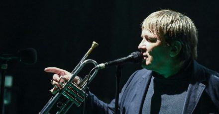 Die andere Stimme:Sven Regener und seine Trompete.
