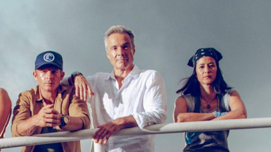 """Teil des neuen """"Retter der Meere""""-Team (v.l.): Pit Wagner (Daniel Roesner), Reno Finnings (Hannes Jaenicke) und Yuna Bartosch (Luka Omoto). (ili/spot)"""