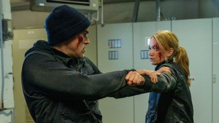 """Sarah Kohr - Schutzbefohlen"": Sarah Kohr (Lisa Maria Potthoff) und Henning Lanz (Sebastian Blomberg) bekämpfen sich hartnäckig (cg/spot)"