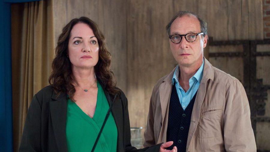 """Jana Winter (Natalia Wörner) und Brauner (Martin Brambach) in """"Unter anderen Umständen: Über den Tod hinaus"""" (cg/spot)"""