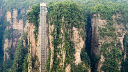 """Der Bailong-Aufzug hat es ins """"Guinness-Buch der Rekorde"""" geschafft. (amw/spot)"""