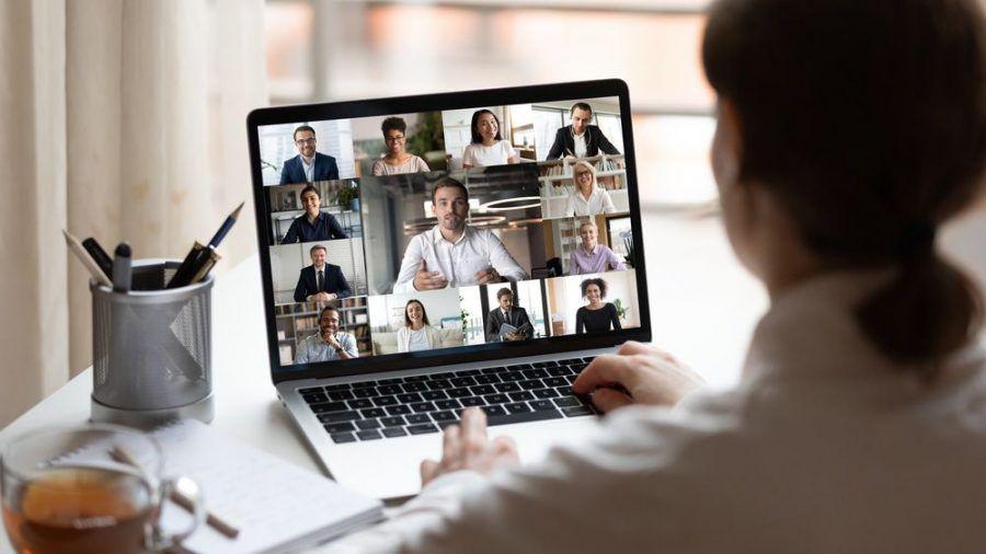 Eine Videokonferenz im Homeoffice (wue/spot)