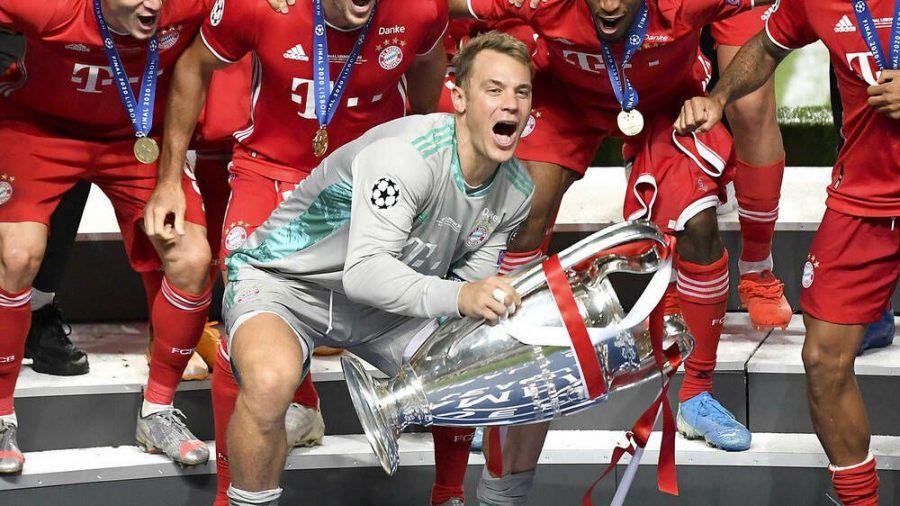 Manuel Neuer nach dem Gewinn der Champions League im Sommer 2020. (dr/spot)