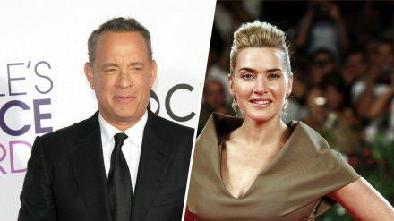 Zur Abwechslung mal nicht für einen Golden Globe nominiert: Tom Hanks und Kate Winslet (stk/spot)