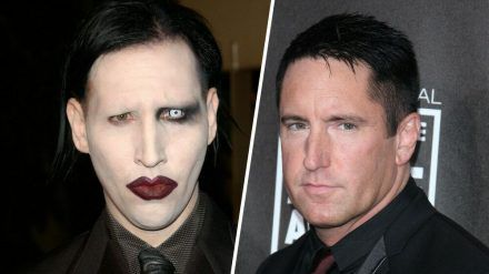 Seit Jahrzehnten zerstritten: Marilyn Manson (l.) und Trent Reznor (stk/spot)
