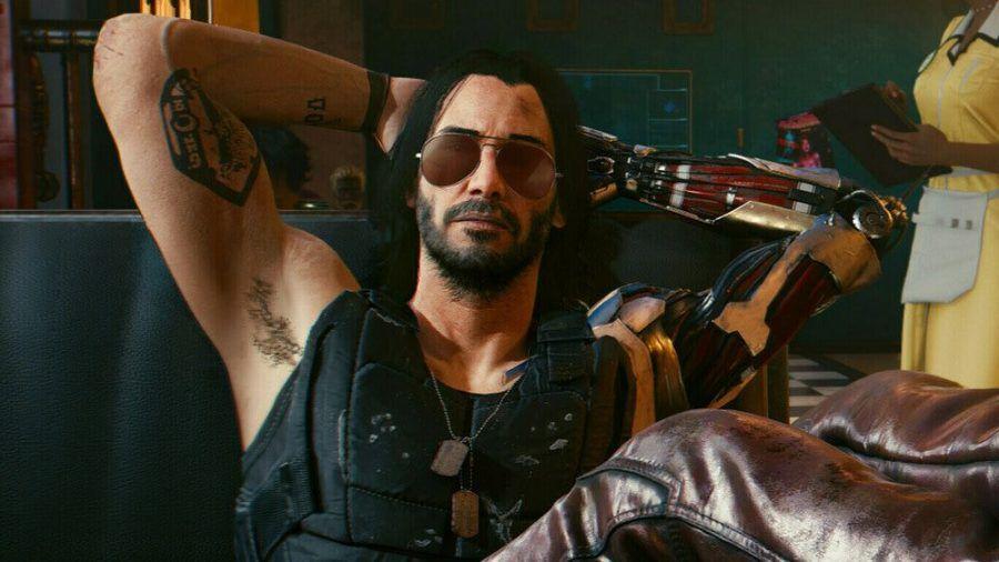 """Keanu Reeves als Johnny Silverhand in """"Cyberpunk 2077"""" (wue/spot)"""